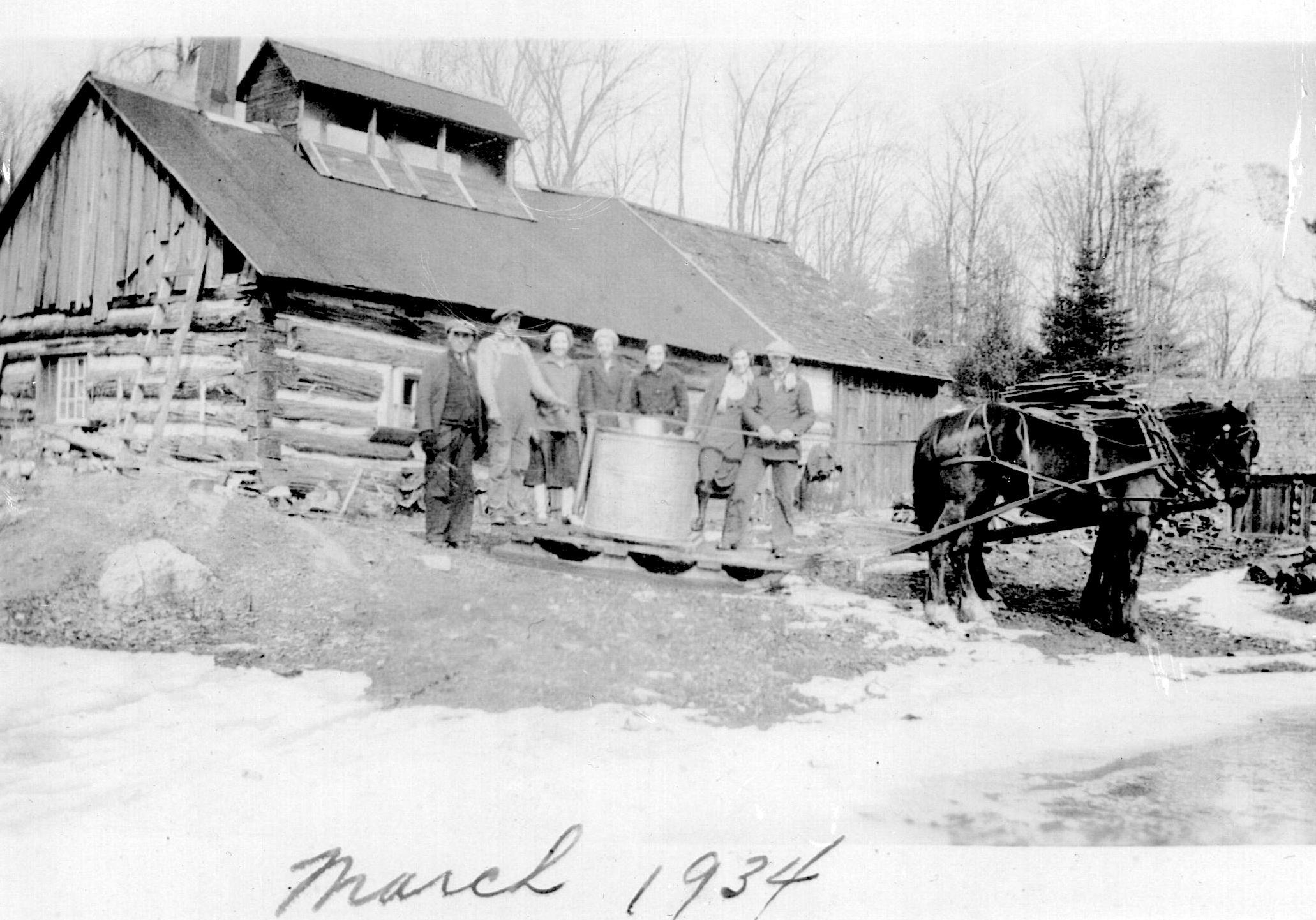 Gemmill Family Sugar Camp 1934